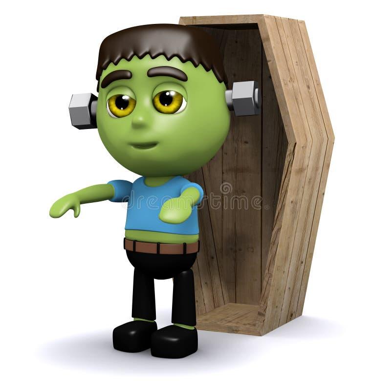 Download гроб 3d Frankenstein иллюстрация штока. иллюстрации насчитывающей шарж - 40581261