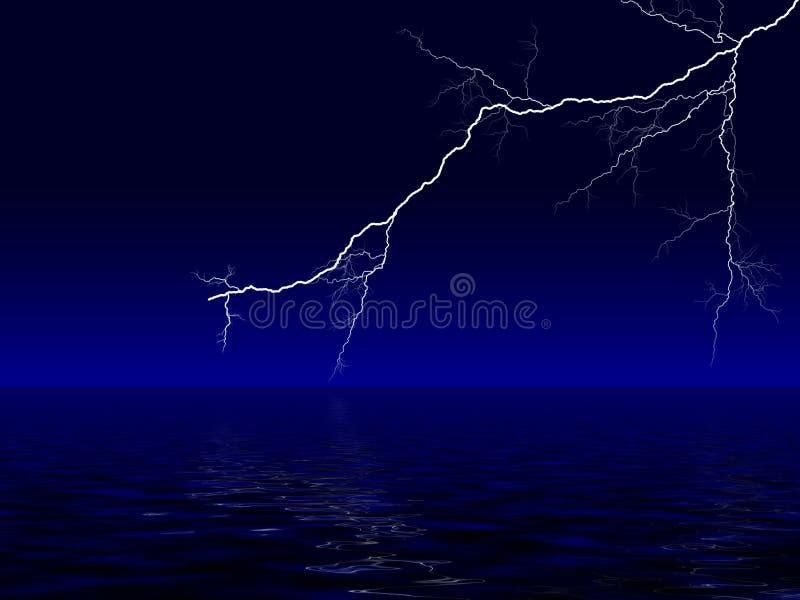 гроза океана бесплатная иллюстрация