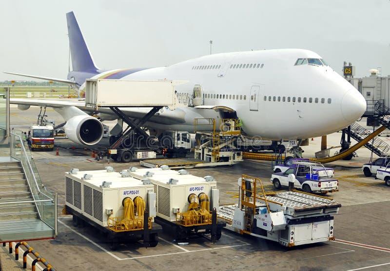 громоздк двигателя 747 Боинг стоковые изображения rf