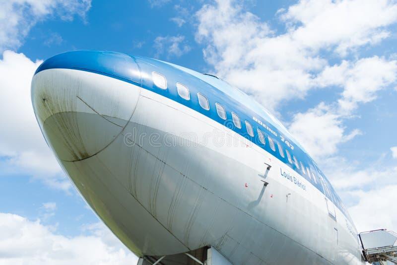 Громоздк KLM 747 - двигатель стоковое фото