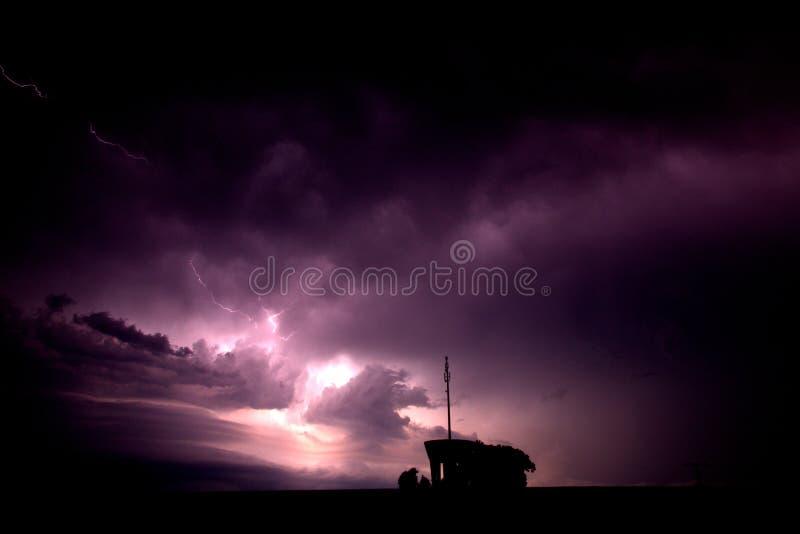 Гром и молния стоковое изображение rf