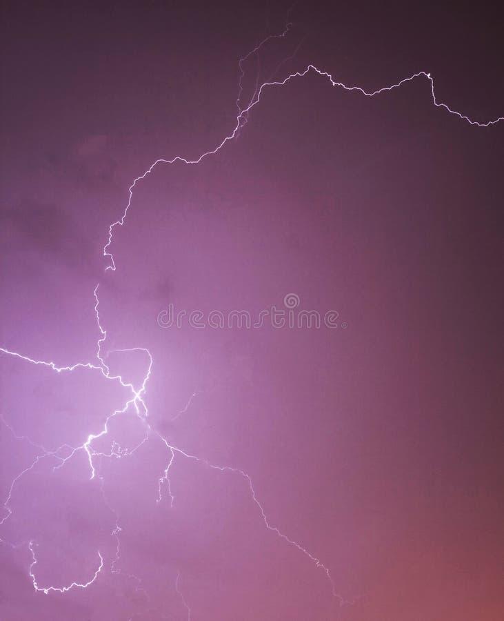 гром лета шторма молнии естественный стоковая фотография