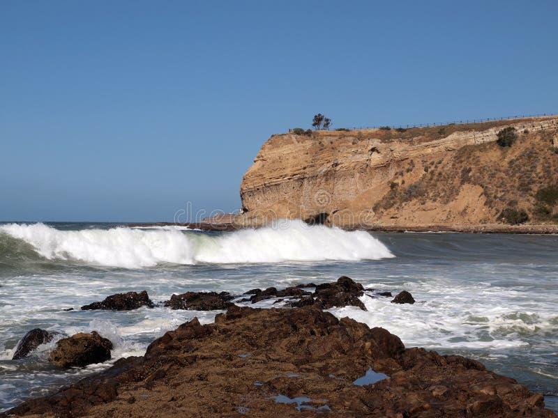 гром прибоя california стоковые фотографии rf