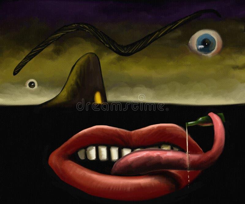 Гротесково - картина цифров бесплатная иллюстрация