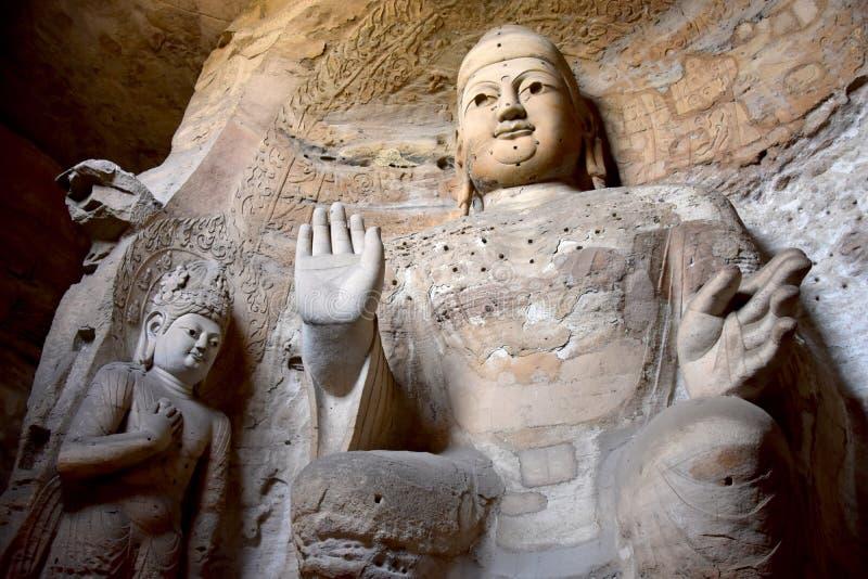 Гроты Yungang, Datong, Шаньси, Китай стоковое изображение