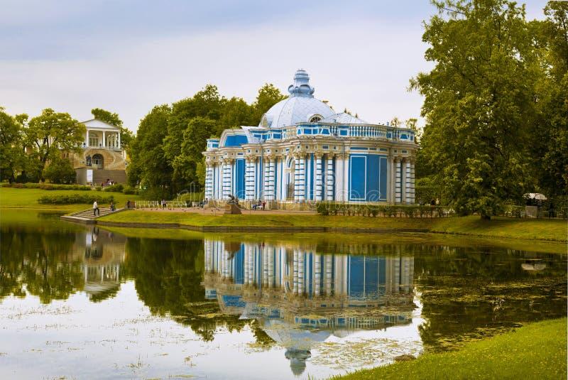 Грот павильона в парке Катрина Tsarskoye Selo, Pushkin, Санкт-Петербург, стоковое изображение rf