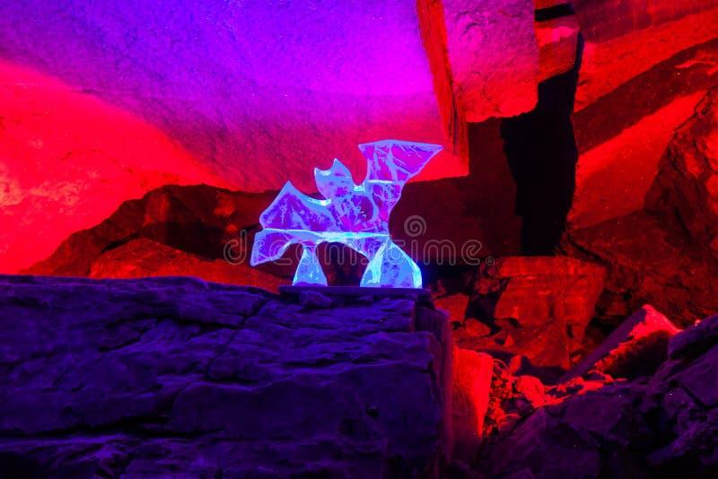 Грот Dante в пещере льда Kungur стоковое фото rf