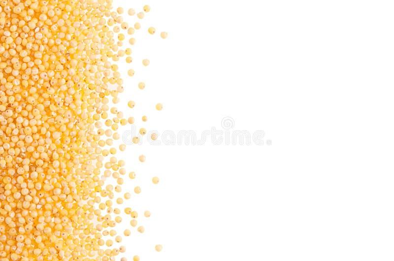 Гроуты пшена как декоративный обрамлять изолированный на белой предпосылке стоковое изображение