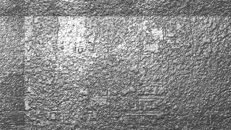 Грубая заржаветая предпосылка текстурированная серебром иллюстрация вектора