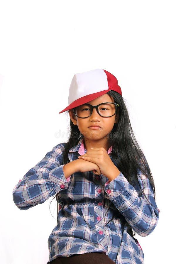 Грубая сердитая маленькая девочка стоковое изображение