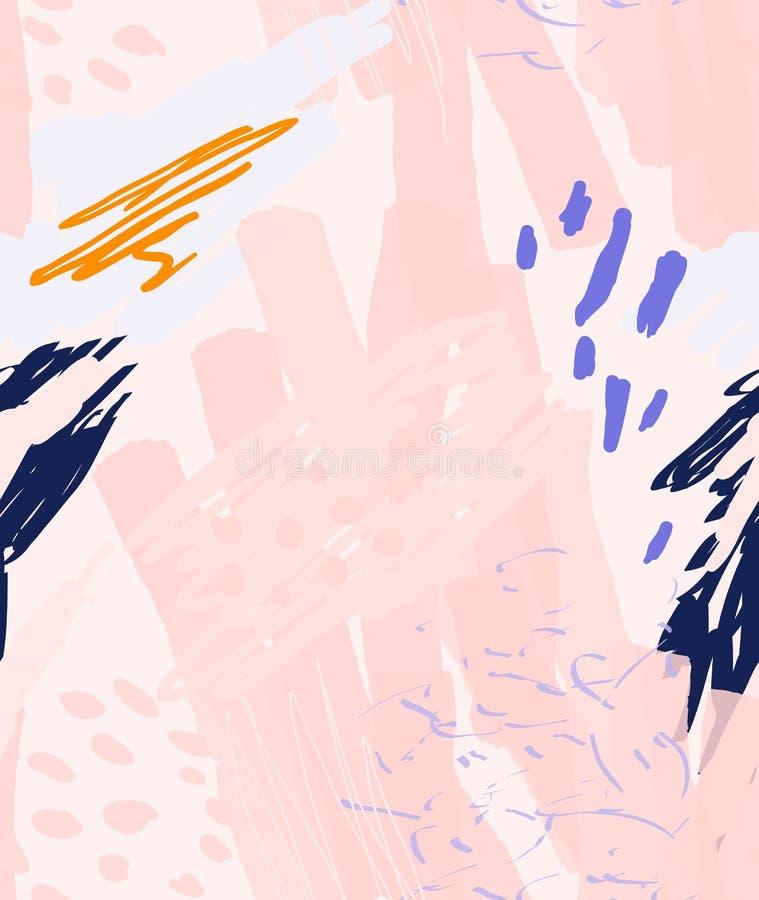 Грубо вычерченные doodles ставят точки круги с щеткой отметки иллюстрация штока