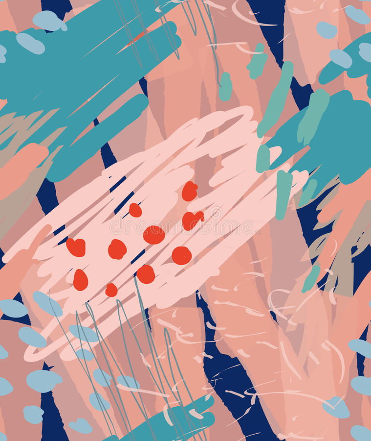 Грубо вычерченные doodles ставят точки круги с щеткой отметки иллюстрация вектора