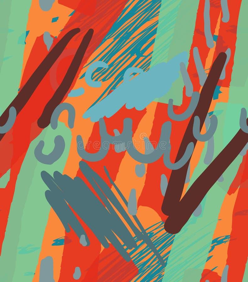 Грубо вычерченные doodles ставят точки круги с щеткой отметки бесплатная иллюстрация