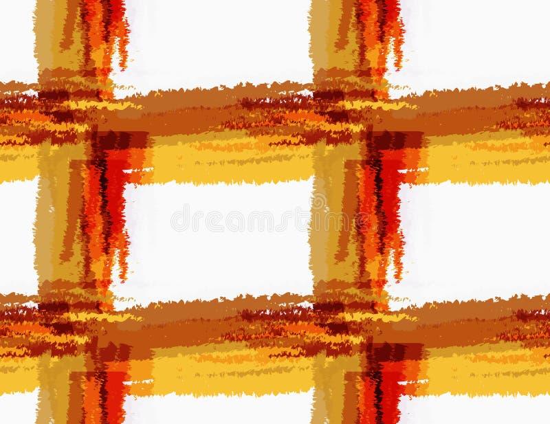 Грубый коричневый цвет щетки checkered бесплатная иллюстрация
