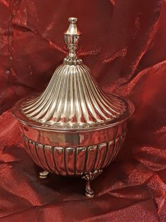 Грузинское серебряное сокровище heirloom семьи стоковые фото