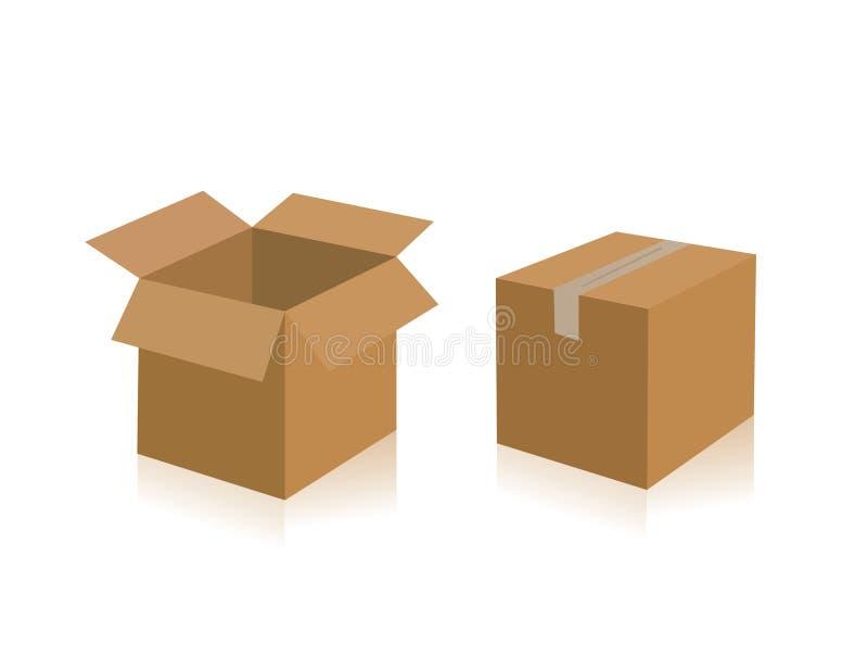 грузить коробок бесплатная иллюстрация