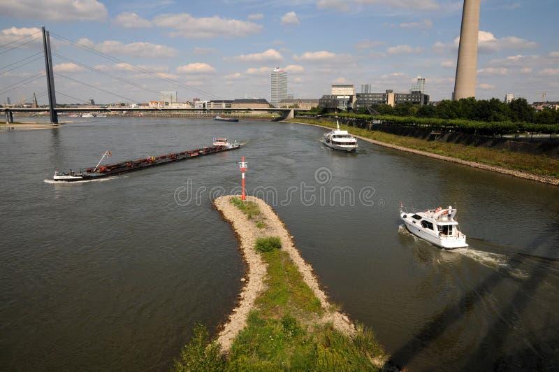 Грузить на Рейн стоковые фото