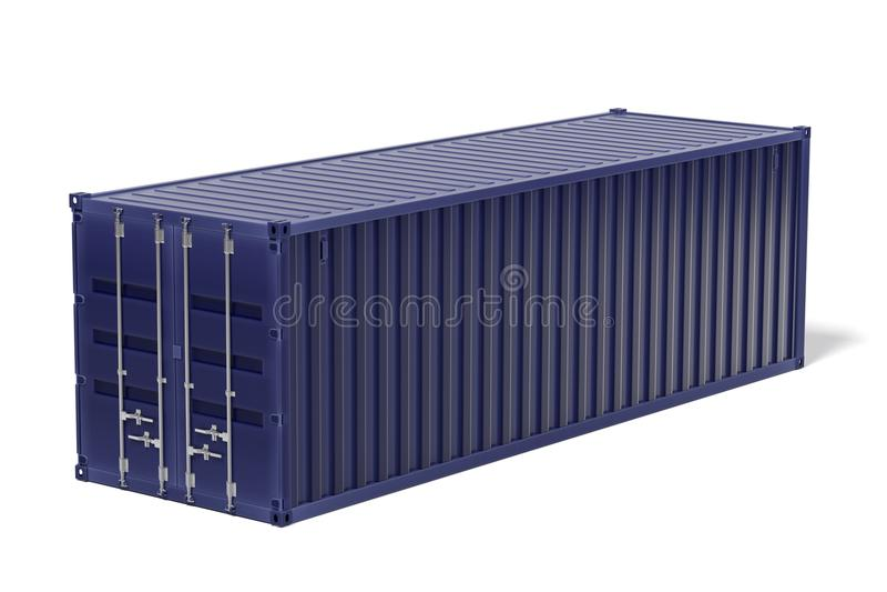 Грузовой контейнер иллюстрация штока