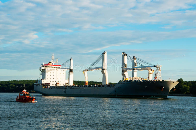 Грузовой корабль насыпного груза стоковая фотография