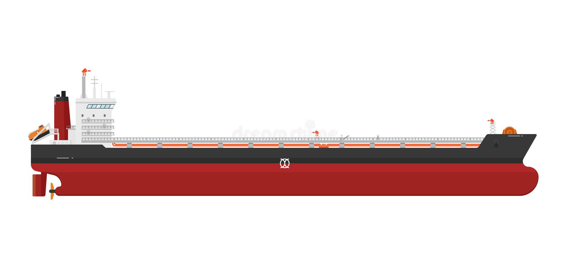 Грузовой корабль на белой предпосылке иллюстрация вектора