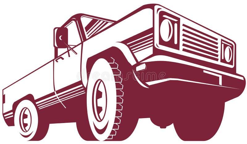 грузовой пикап иллюстрация штока