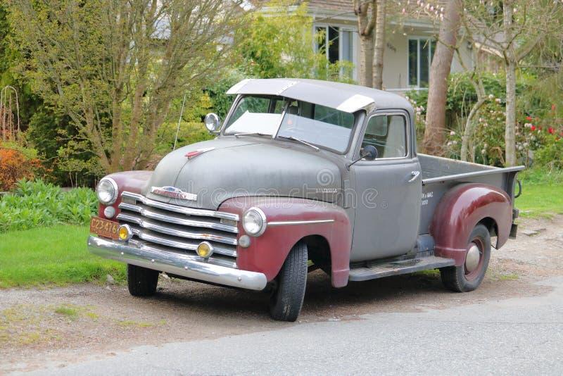 грузовой пикап 1950 chevrolet стоковое изображение rf