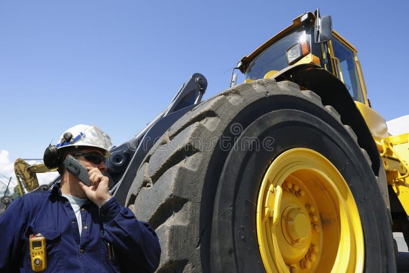 грузоподъемник водителя стоковое изображение rf