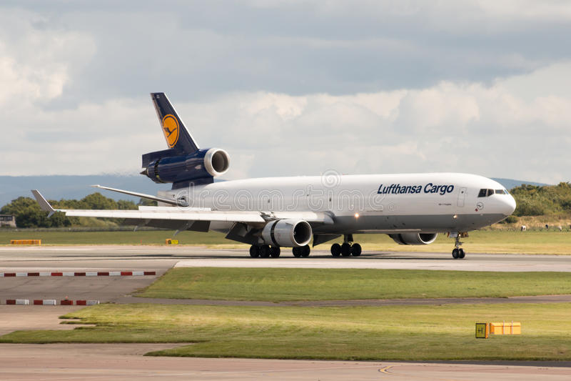 Груз MD-11 Люфтганзы стоковое изображение rf