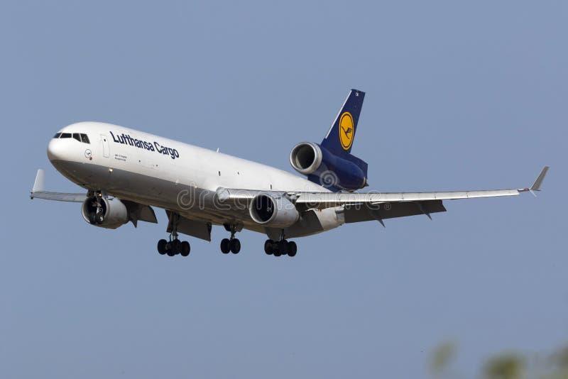 Груз MD-11 на выпускных экзаменах стоковое изображение rf