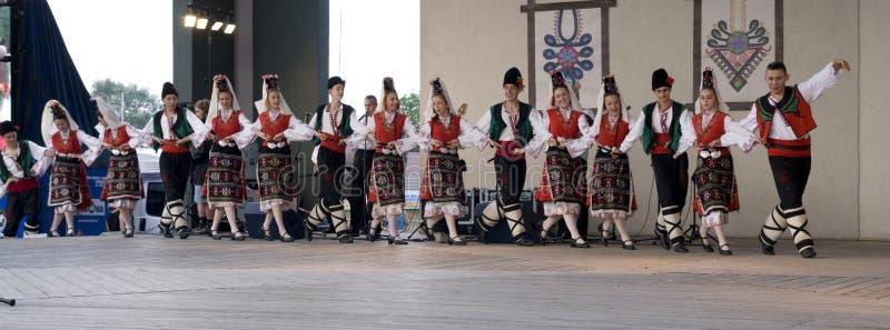 группа Болгарии фольклорная традиционная стоковое изображение rf