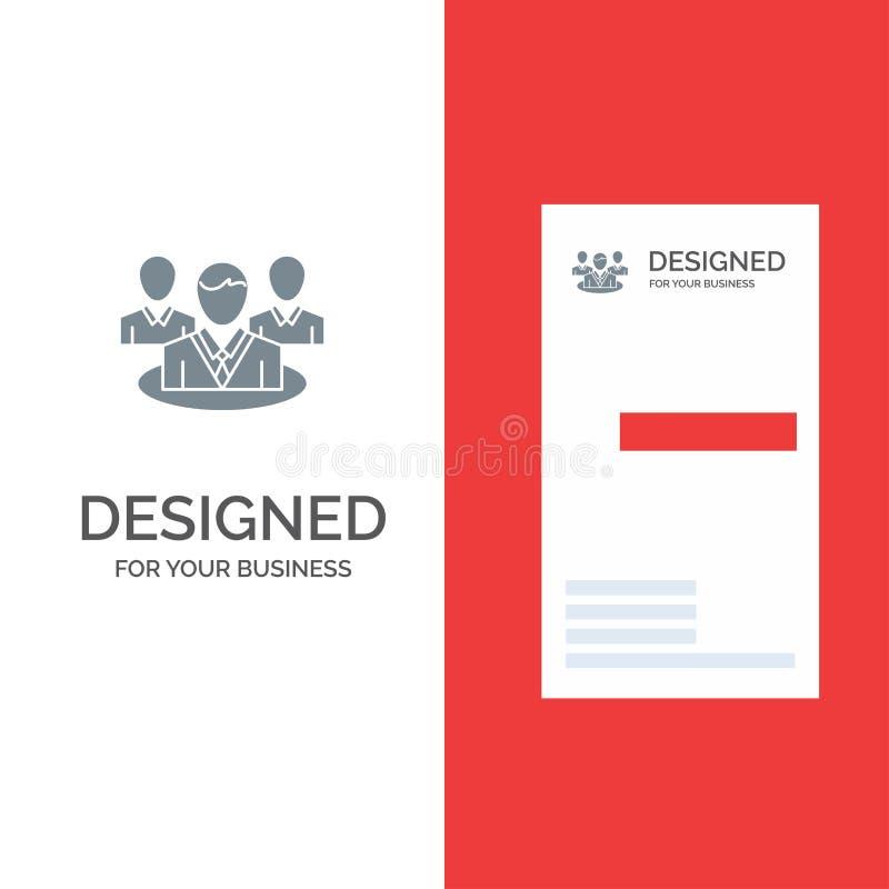 Группа, болтовня, сплетня, дизайн логотипа разговора серые и шаблон визитной карточки иллюстрация вектора
