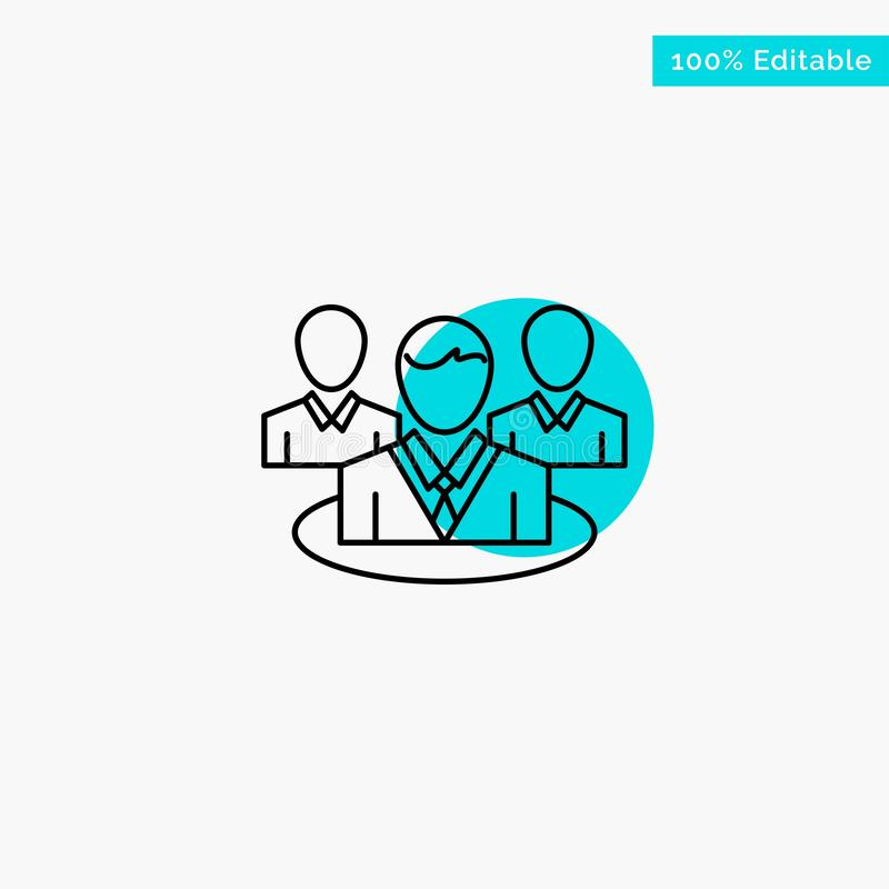 Группа, болтовня, сплетня, значок вектора пункта круга самого интересного бирюзы разговора иллюстрация штока