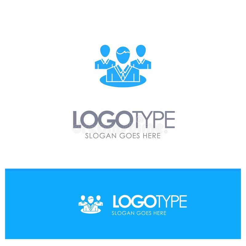 Группа, болтовня, сплетня, логотип разговора голубой твердый с местом для слогана иллюстрация штока