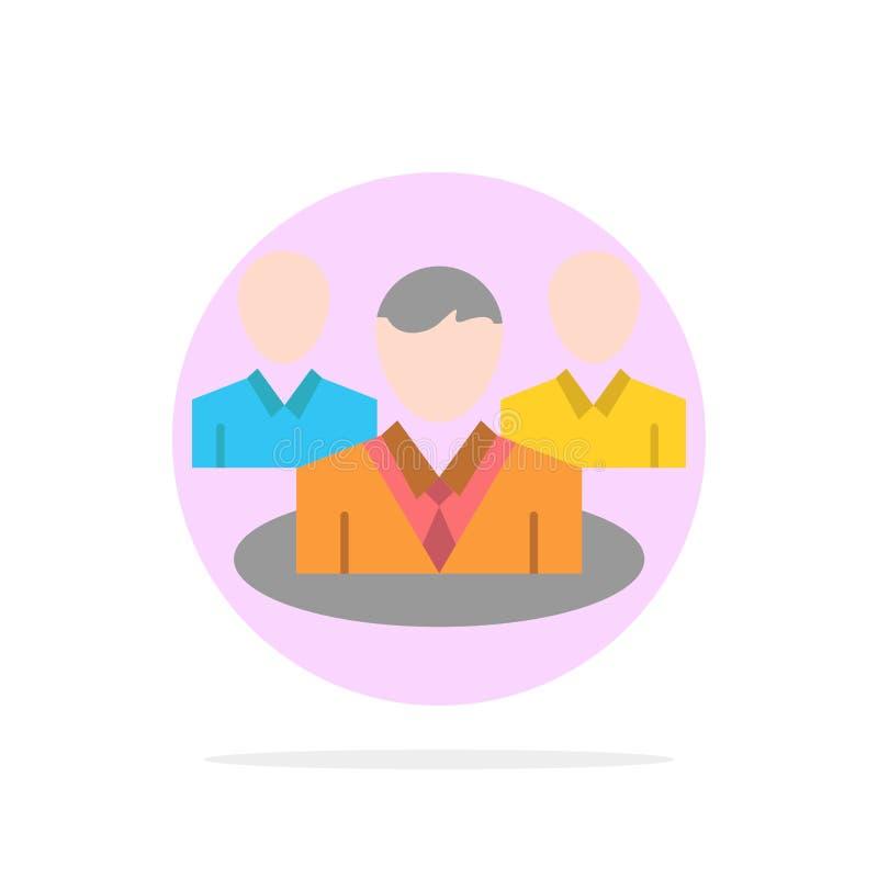 Группа, болтовня, сплетня, предпосылки круга разговора значок цвета абстрактной плоский бесплатная иллюстрация