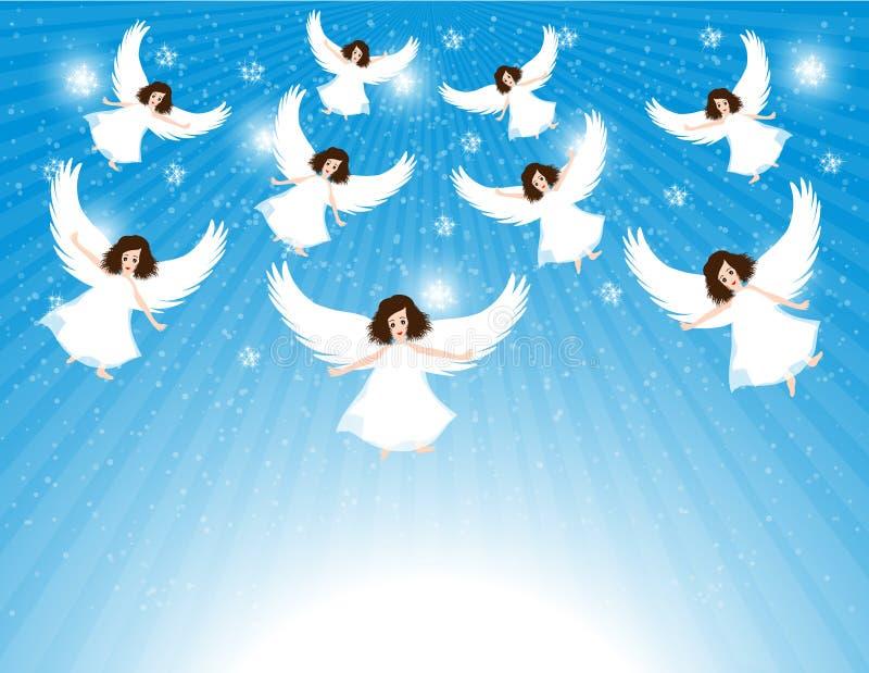 Группа в составе ангелы иллюстрация штока