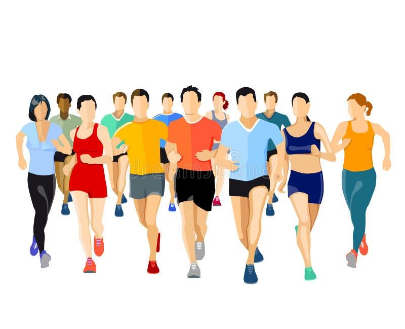 Группа в составе бегуны бесплатная иллюстрация