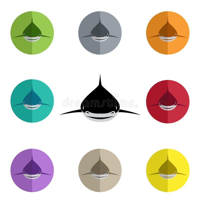 Группа в составе вектора акулы иллюстрация штока