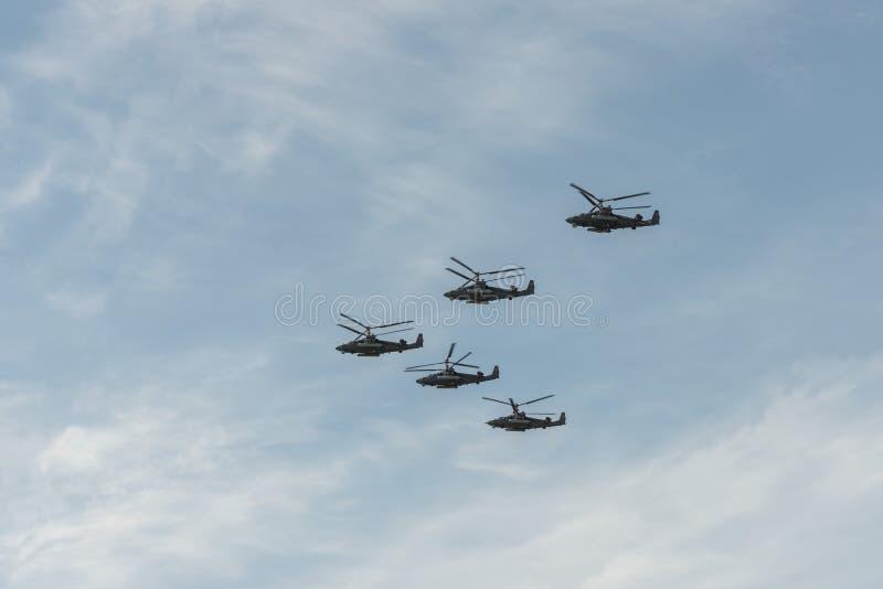 Группа в составе вертолеты стоковые фотографии rf