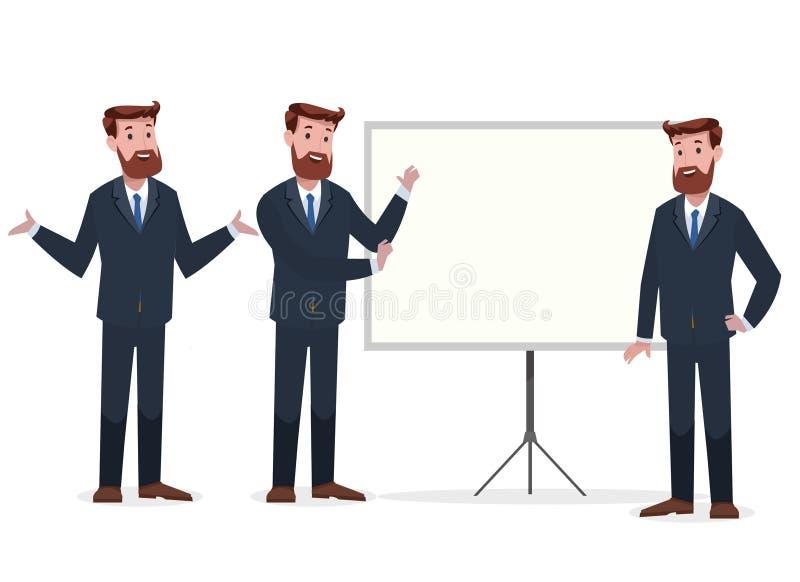 Группа в составе дело и корпоративный характер стоковое изображение rf