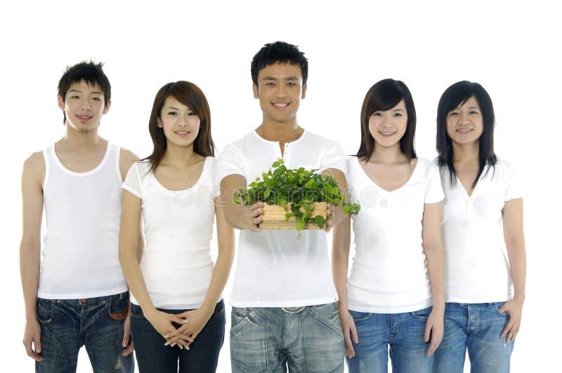 Группа в составе друзья стоковые изображения