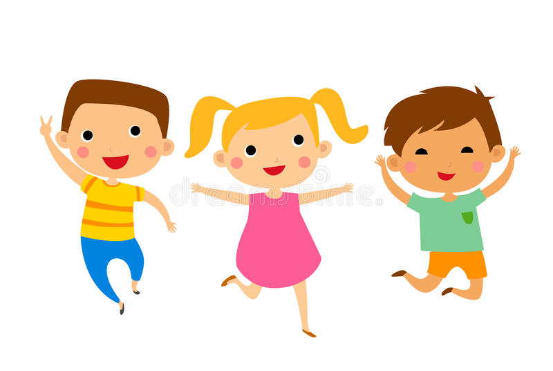 Группа в составе дети иллюстрация вектора