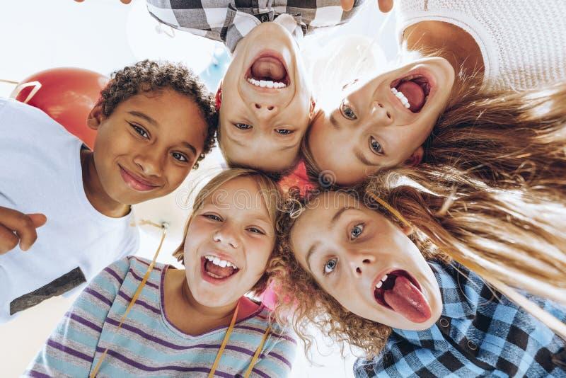 Группа в составе дети стоковое фото rf