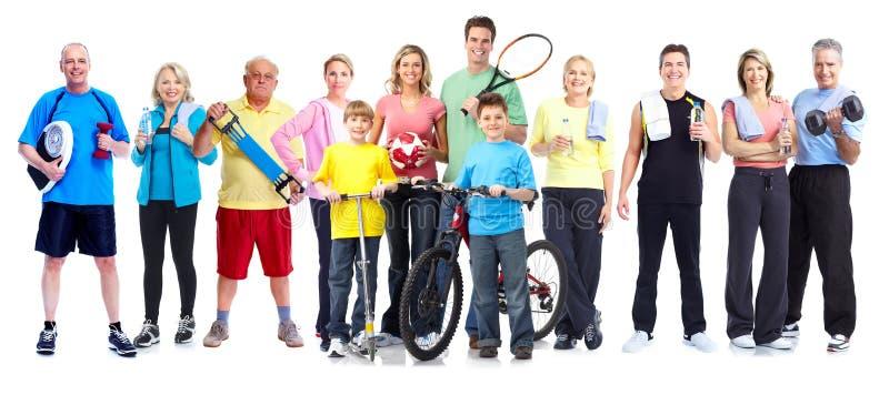 Группа в составе здоровые люди фитнеса стоковое фото