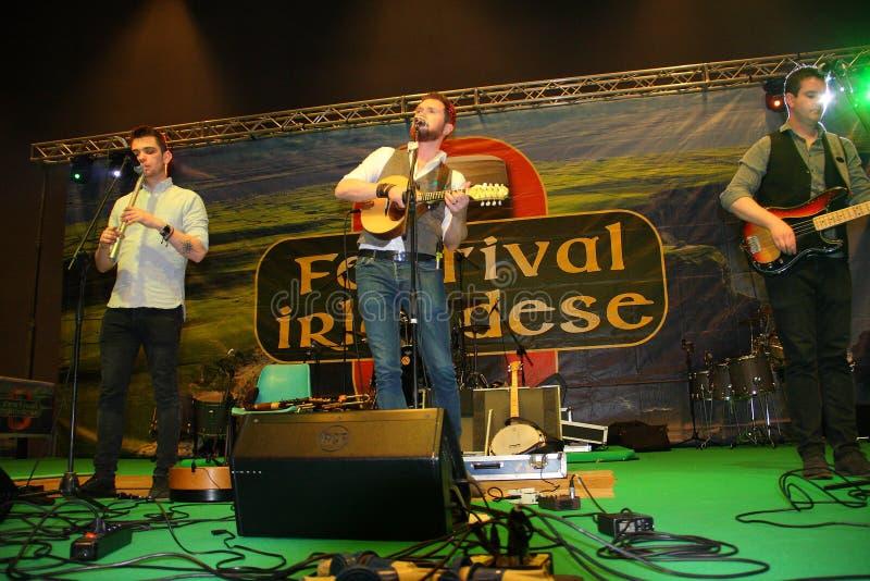 Группа в составе ирландские аудиоплейеры Kilkennys стоковое фото