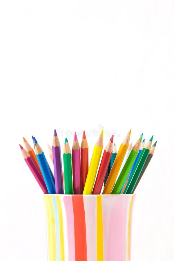 Группа в составе карандаши цвета стоковые изображения rf