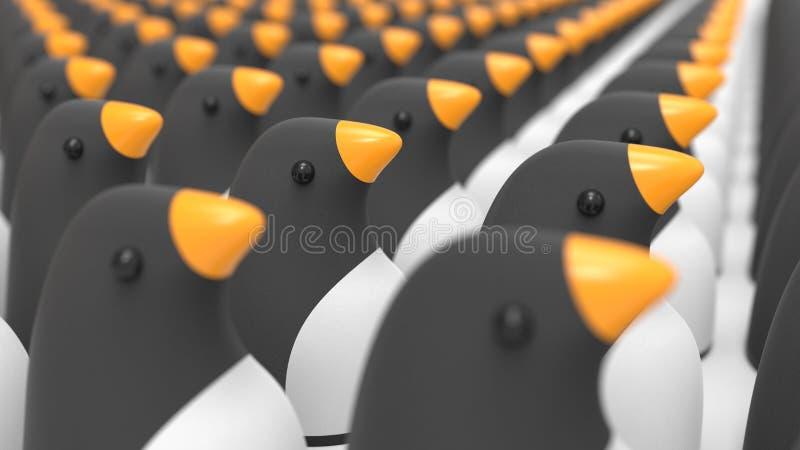 Группа в составе концепция пингвинов иллюстрация штока