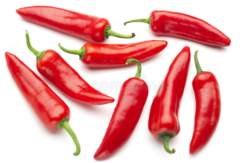Группа в составе красные chilies стоковые фото