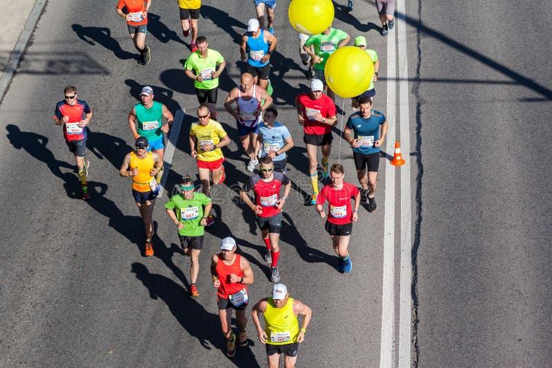 Группа в составе марафонцы стоковое фото rf