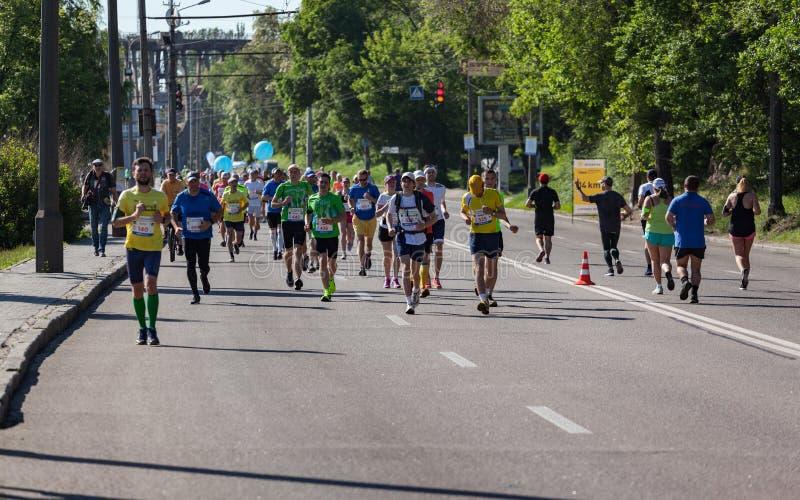 Группа в составе марафонцы стоковые изображения