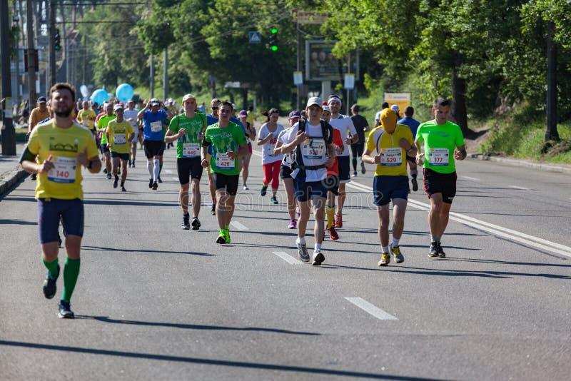 Группа в составе марафонцы стоковое изображение rf